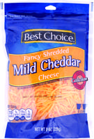 Best Choice Fancy Shredded Cheddar 8 oz