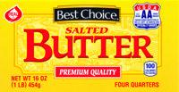 Best Choice Butter Aa Quarters 16 oz