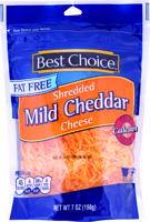 Best Choice Fat/Free Shredded Cheddar 8 oz