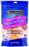 Best Choice Fancy Shredded Mexican Blend 8 oz