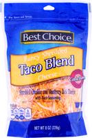 Best Choice Fancy Taco Shredded 8 oz