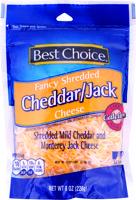 Best Choice Fancy Cheddar/Jack Shred Cheese 8 oz