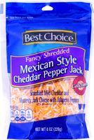 Best Choice Fancy Shredded Mexican Style Cheddar Pepperjack Ch 8 oz