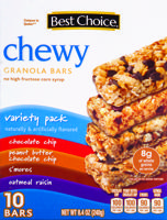 Best Choice Chewy Granola Bars Variety Pack 10 ct