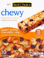 Best Choice Pnut Btr - Choc Chip Chewy Bars 10 ct
