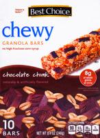Best Choice Chocolate Chunk Chewy Granola Bars 10 ct