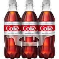 Diet Coke Bottles, 16.9 fl oz, 6 Pack