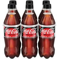 Coca-Cola Zero Sugar Bottles, 16.9 fl oz, 6 Pack